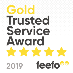 Feefo has given us a Gold Trusted Service Award!