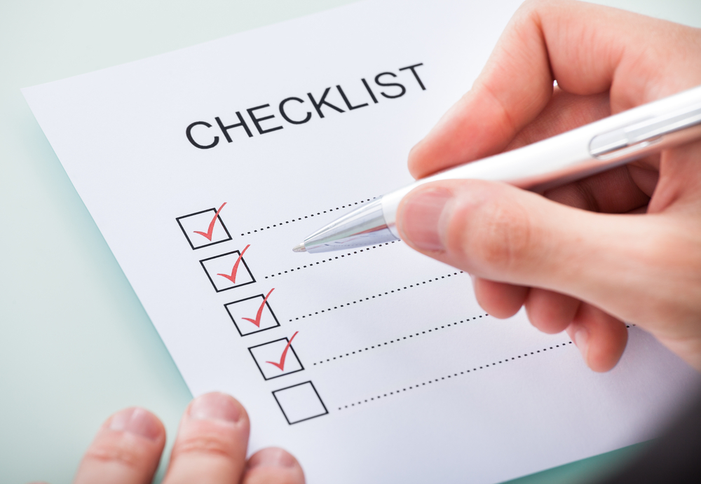 checklist for personal statement