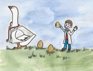 Study Medicine with a little help from the Golden Goose Consultant, illustrated by Lynda Richardson
