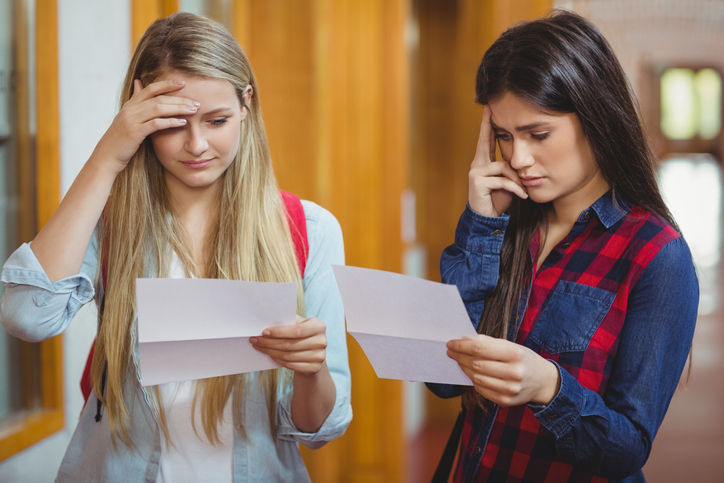 School students get their results on results day